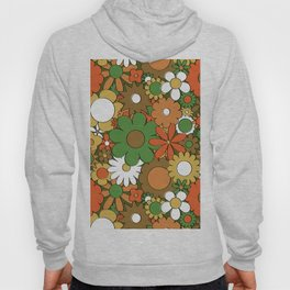 Funky Daisy Floral in Harvest Hoody