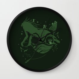 The Legend of Forest Hunter Wall Clock
