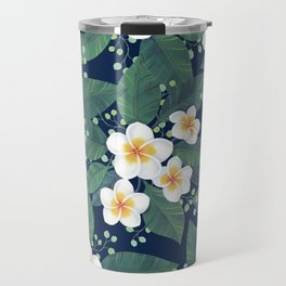Plumeria Pattern Travel Mug