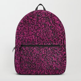 Towel frottee red Backpack