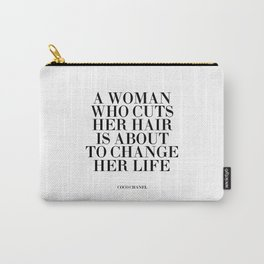 Quote,Inspirational Quote,Motivational Poster,Salon Decor,Fashion Print,Fashionista,Typography Carry-All Pouch