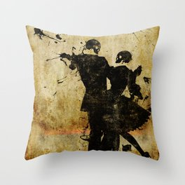 Dance With The Dead Throw Pillow