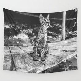 Stray Cat Wall Tapestry