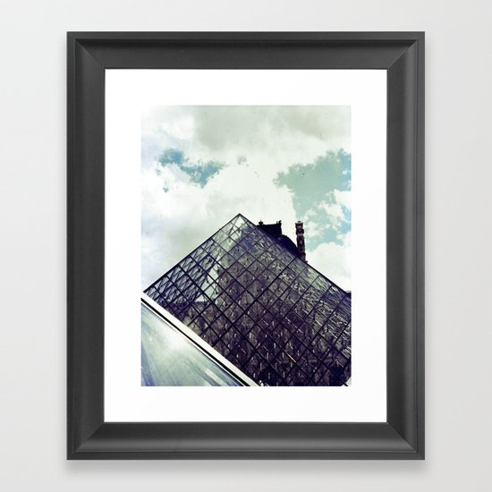 Louvre Pyramid I Framed Art Print