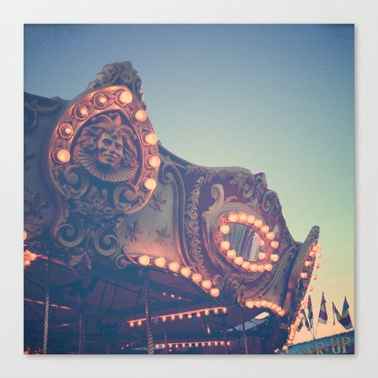 Twilight Carnival Ride Canvas Print