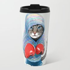 Boxing Cat Travel Mug
