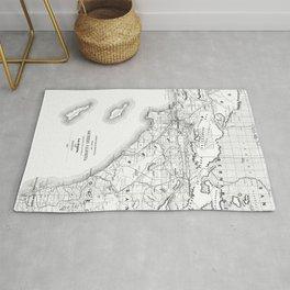 Los Angeles & San Diego Map Rug