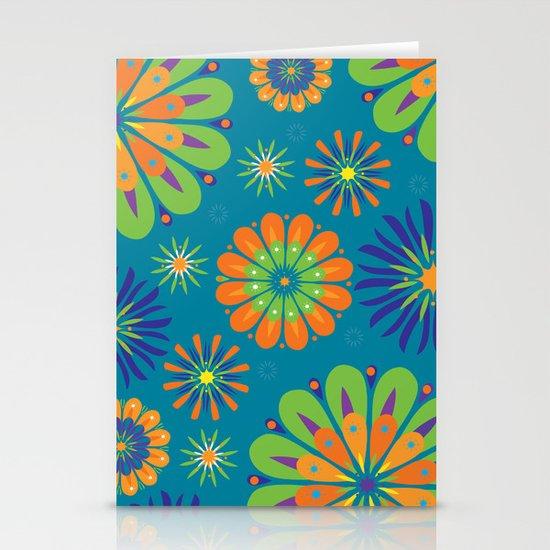 Psycho Flower Blue Stationery Cards