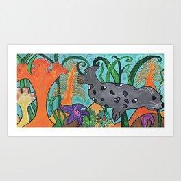 View of a Salish Sea Swimmer Art Print