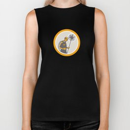 Chimney Sweep Worker Retro Biker Tank