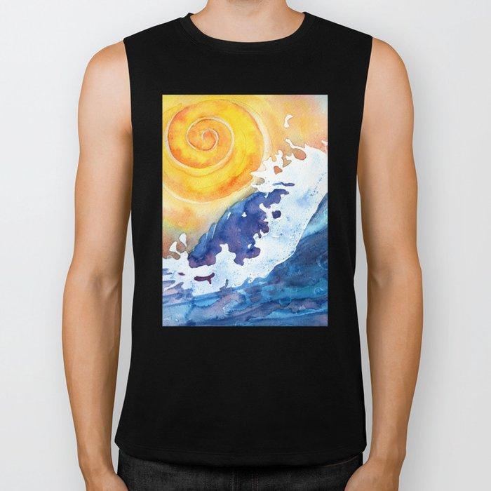 Ocean Wave Biker Tank