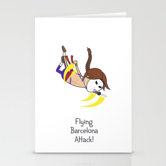 Flying Barcelona Attack Stationery Cards