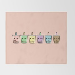 Bubble tea Throw Blanket