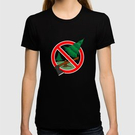 Stop cutting down live trees for Christmas sign T-shirt