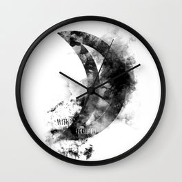 Touched By The Moon Wall Clock
