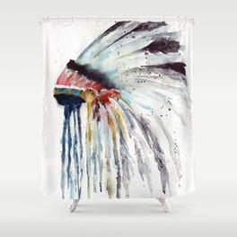 Indian Headress Shower Curtain