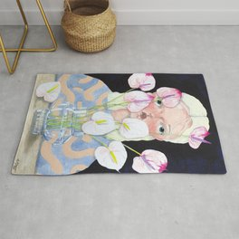 Ariel and the Anthuriums Rug