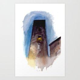 Viterbo at Night Art Print