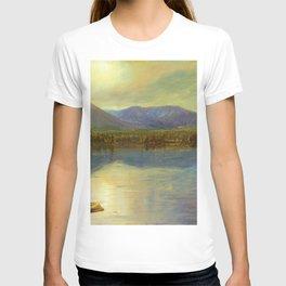 Mounts Katahdin and Turner from Lake Katahdin, Maine - Frederic Edwin Church T-shirt