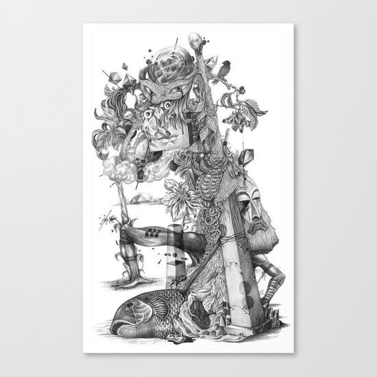 compositions Naturally (Black&White) Canvas Print