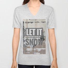 Snowfall - let it snow Unisex V-Neck