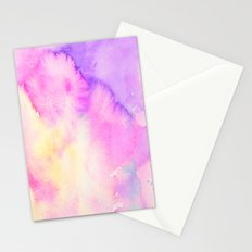 Watercolor Abstract Landscape Blue and Purple Stationery Cards