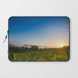 Sunrise over the fields Laptop Sleeve