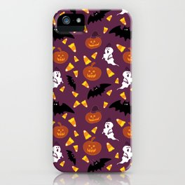 Halloween pattern - Trick or treat! iPhone Case