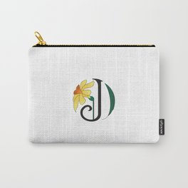 Ruby's Flower Initials - J Carry-All Pouch