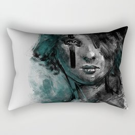 Ink and Color girl Rectangular Pillow
