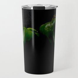 Two Green Peppers Travel Mug