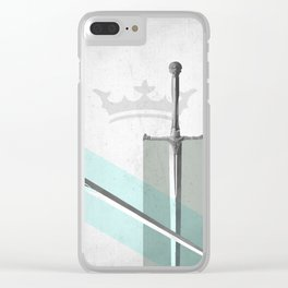 SWORD FIGHT Clear iPhone Case