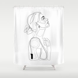 B Color Beauty Shower Curtain