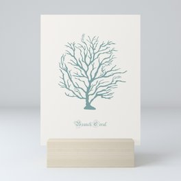 AFE Branch Coral, Misty Green Mini Art Print