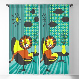Atomic Leo from the 70s poster Blackout Curtain