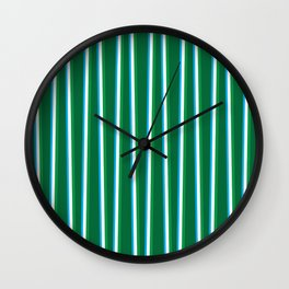 Between the Trees Forest Green, Green & Blue #811 Wall Clock