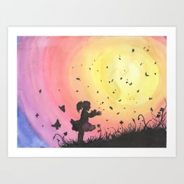 Surrounded By Love / Les Papillons Art Print