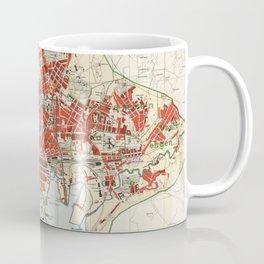 Vintage Map of Oslo Norway (1911) Coffee Mug
