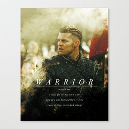 Warrior Watch Me - Ivar The Boneless Canvas Print