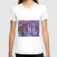 the life aquatic T-shirts featuring Aquatic Tree Scape  by GraceJinnah