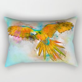 High as a Macaw Rectangular Pillow