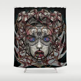 Google Medusa Shower Curtain