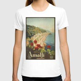 Vintage Travel Ad Amalfi Italy T-shirt