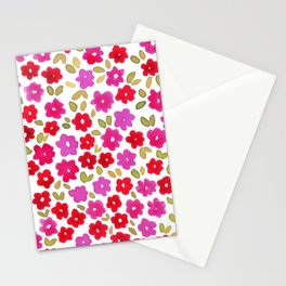 1990 Floral Stationery Cards