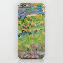 """Georges Seurat  """"Paysage, homme assis (étude pour Un Dimanche d'été à l'Ile de La Grande Jatte)"""" iPhone Case"""