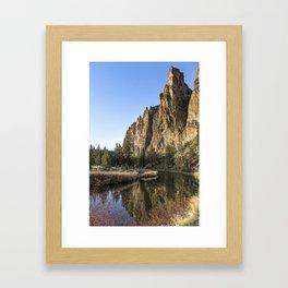 Cliffs Above Crooked River Framed Art Print