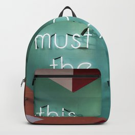 this must be the place Backpack
