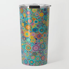Psychedelic funky Seventies disco party Travel Mug