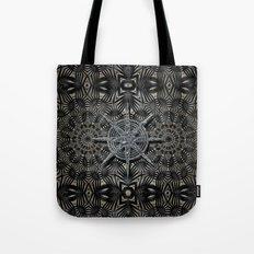 Silver and black Deco Tote Bag