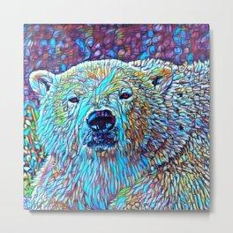ColorMix Polar Bear Metal Print